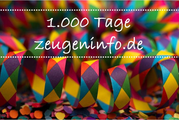 2018 12 1.000 Tage zeugeninfo.de  - PräventSozial feiert 1.000 Tage zeugeninfo.de